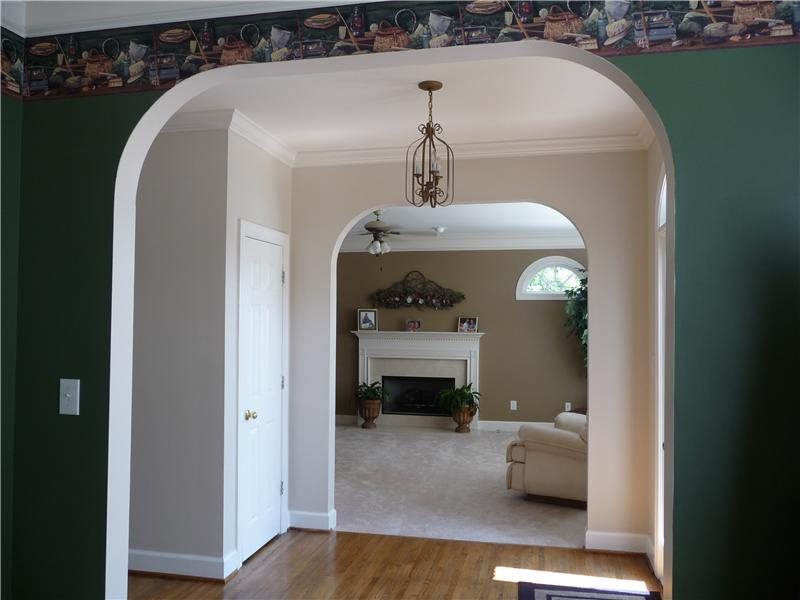 Arched entryways.