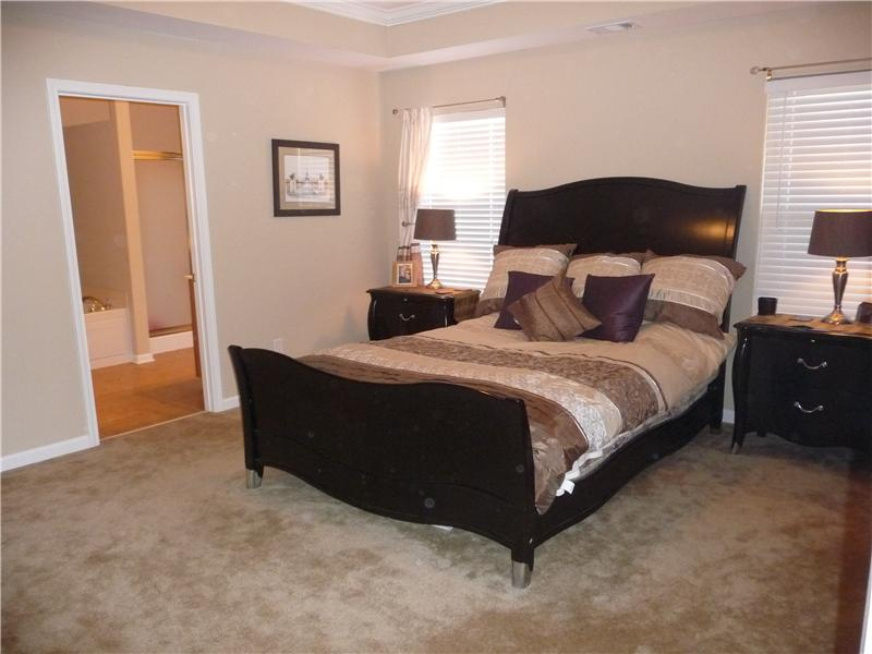 Beautiful master bedroom on main level!