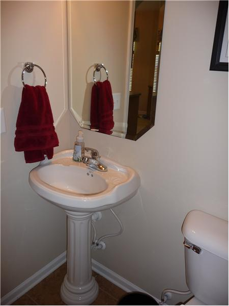 Powder room on main level for your guests.