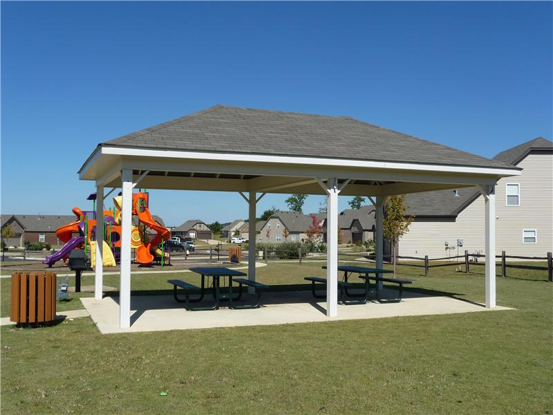 Rosser Cove has a picnic pavillion and barbeque area for residents