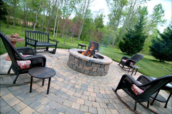 After an afternoon by the pool or fishing in the pond the family can gather for smores around the firepit.