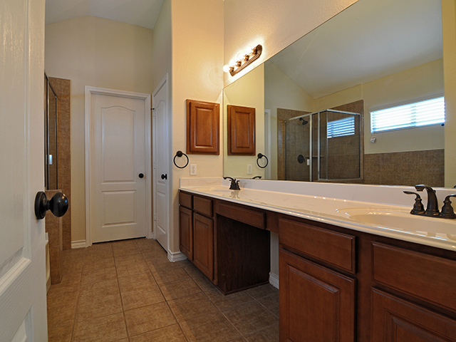 Spacious Master Bath with Dual Vanities