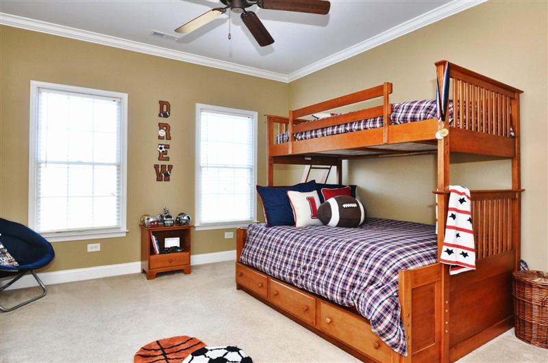 Third bedroom is spacious, custom paint and roomy closets