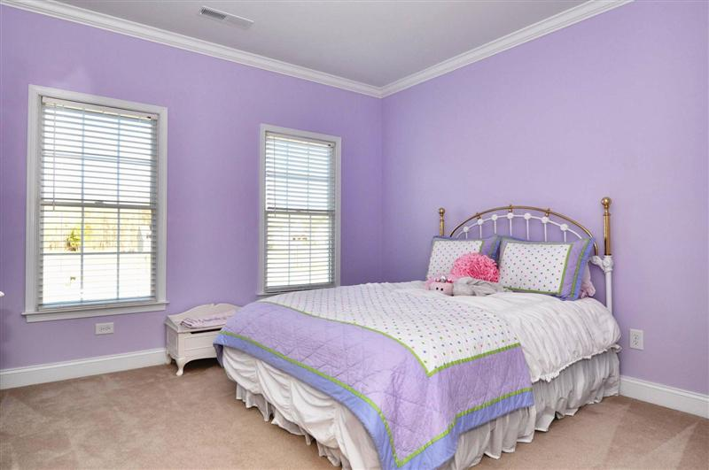 Fourth bedroom is spacious, custom paint and roomy closets