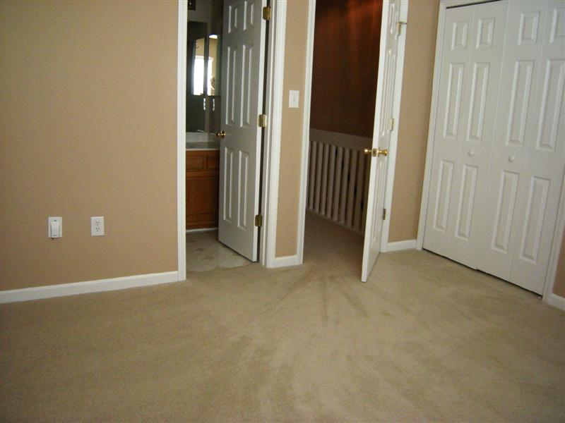 The master bedroom has new Stainmaster wall to wall carpeting and new paint