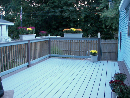 Good Sized Deck Overlooking Back Yard