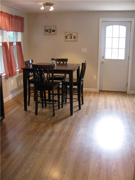 Comfortable Eat In Kitchen With Laminate Flooring